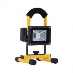 Projecteur LED Portatif avec Batterie Blanc Froid 20W