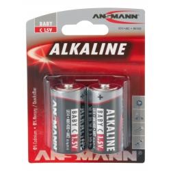 Blister de 2 piles LR14 C ANSMANN ALKALINE RED LINE