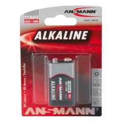 Blister de 1 piles 6LR61 ANSMANN ALKALINE RED LINE