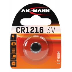CR1216 - Blister de 1 pile ANSMANN Lithium 3V