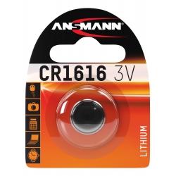 CR1616 - Blister de 1 pile ANSMANN Lithium 3V