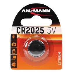 CR2025 - Blister de 1 pile ANSMANN Lithium 3V