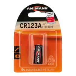 1 pile CR123A (1 Blister) ANSMANN