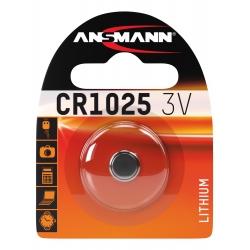 CR1025 - Blister de 1 pile ANSMANN Lithium 3V