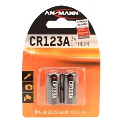2 Piles Lithium CR123A / CR17335 ANSMANN