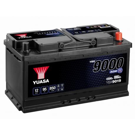 Batterie 12V 95Ah 850A Yuasa AGM Start Stop YBX9019
