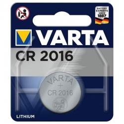 Pile CR2016 Varta Bouton Lithium 3V